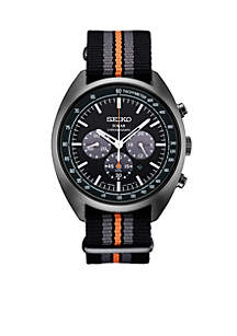 Stainless Steel Solar Chronograph Recraft Series Stripe Nylon Strap Watch