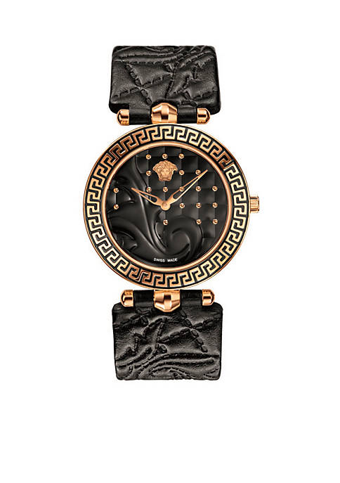 Versace Womens Vanitas Black Watch