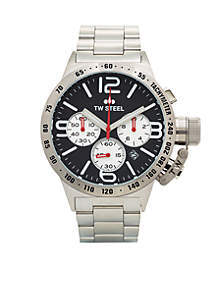 Men's Big Case Chronograph Black Watch