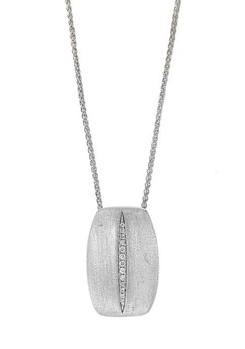 Effy® Sterling Silver Diamond Pendant Necklace