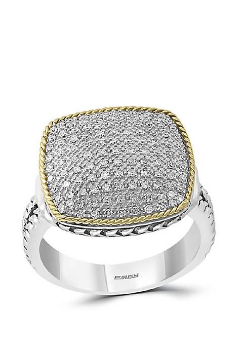 Effy® 1/3 ct. t.w. Diamond Ring in Sterling