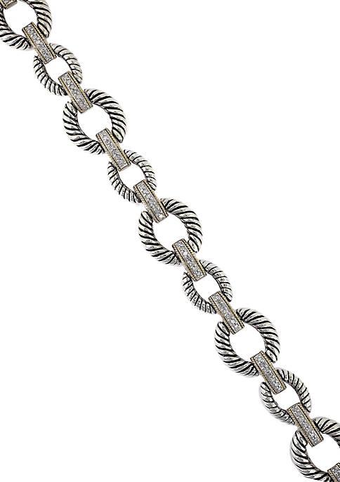 Effy® 0.27 Diamond Bracelet in Sterling Silver &