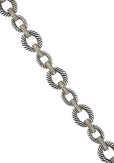 Effy® 0.27 Diamond Bracelet in Sterling Silver & 18K Yellow Gold