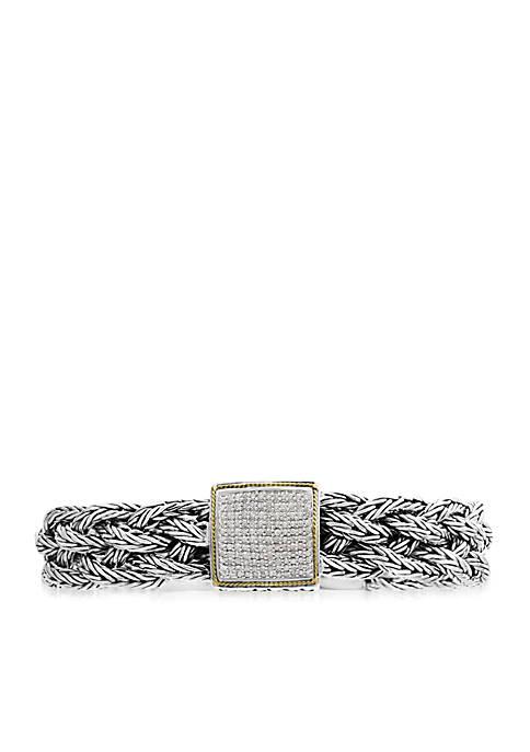 Effy® Diamond Weave Bangle Bracelet in 18k Yellow