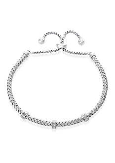 Effy® 0.15 ct. t.w. Diamond Bolo Chain Bracelet in Sterling Silver