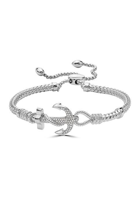 1/6 ct. t.w. Diamond Bracelet in Sterling Silver $560.00