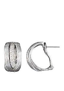 1/5 ct. t.w. Diamond Hoop Earrings in Sterling Silver