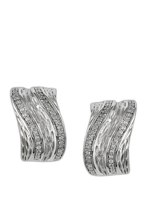 Effy® 3/8 ct. t.w. Diamond Earrings in Sterling