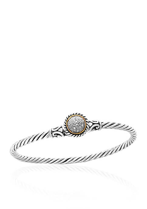 Effy® 0.10 ct. t.w. Diamond Bangle Bracelet in