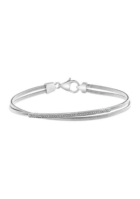 Effy® 1/10 ct. t.w. Diamond Bracelet in Sterling