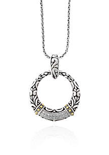 0.09 ct. t.w. Diamond Open Pendant in Sterling Silver with 18k Yellow Gold