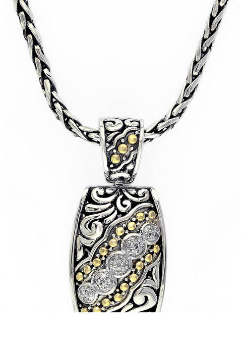 Effy® 1/10 ct. t.w. Diamonds Sterling Silver Necklace