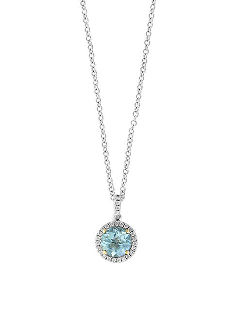 Effy® 0.5 ct. t.w. Aquamarine Pendant Necklace in