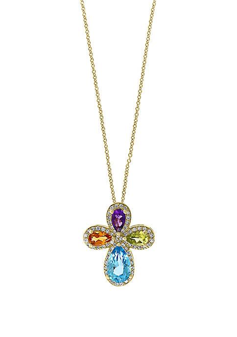 Effy® 1/5 ct. t.w. Diamond, Amethyst, Blue Topaz,