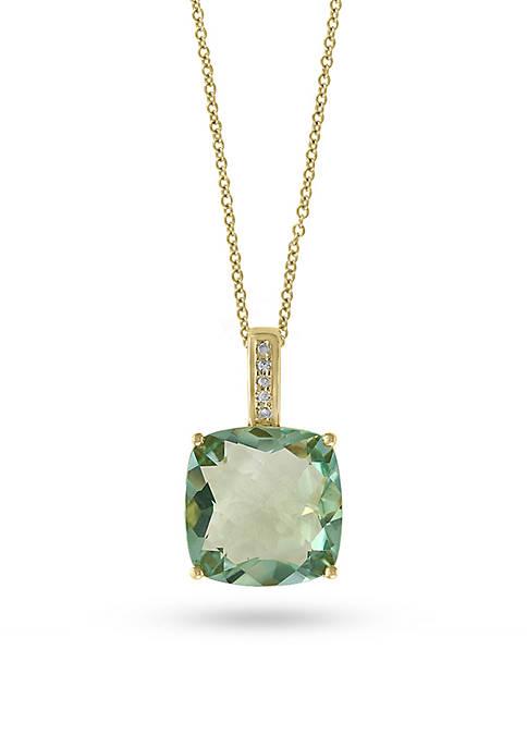 Effy® 14K Yellow Gold Green Amethyst and Diamond