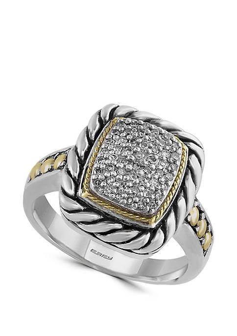 Effy® 1/5 ct. t.w. Diamond Ring in 925