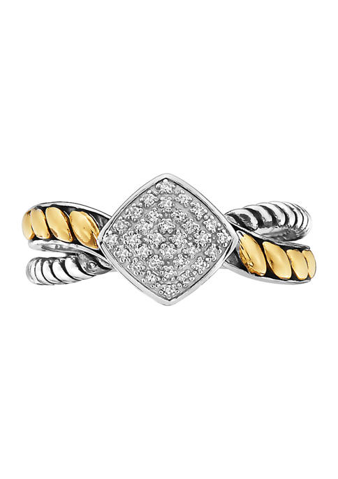 Effy® 1/10 ct. t.w. Diamond Ring in Sterling