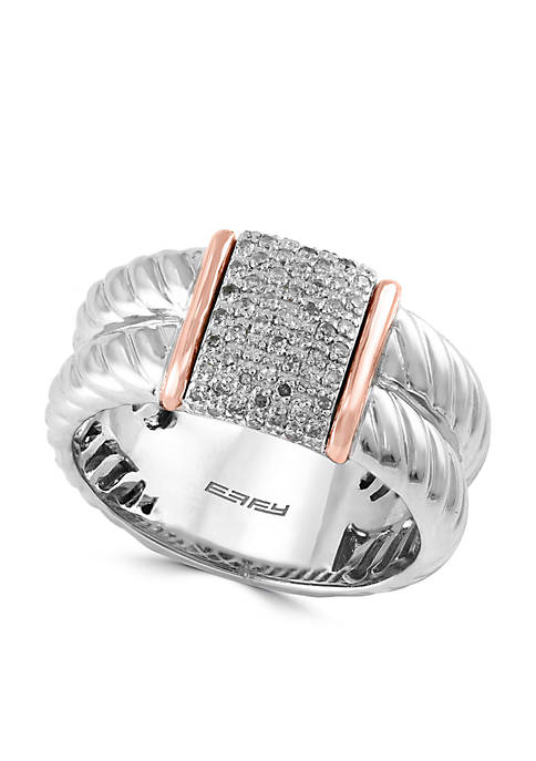 Effy® 1/6 ct. t.w. Diamond Ring in Sterling