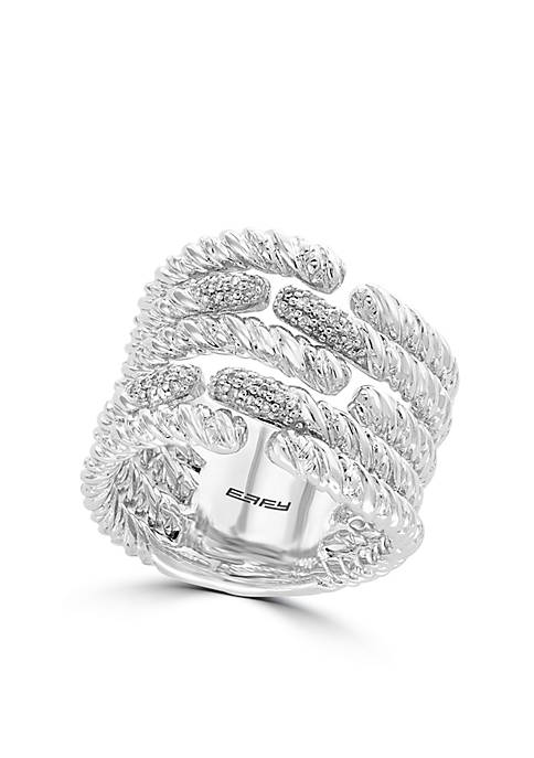Effy® Sterling Silver Diamond Band Ring