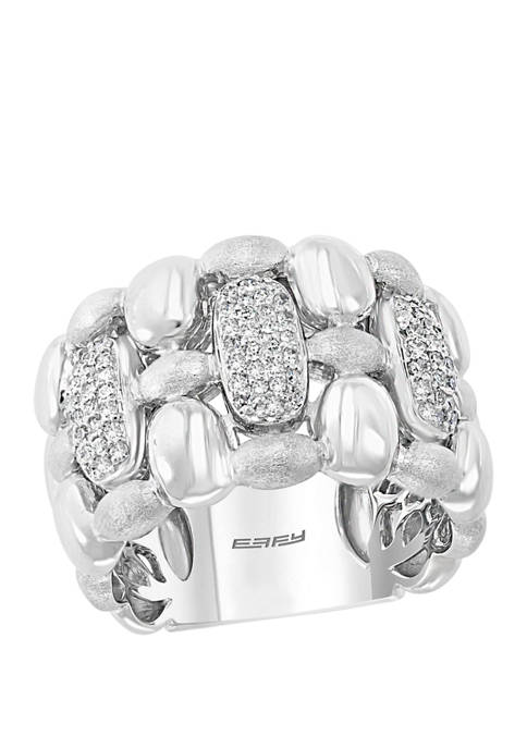 3/8 ct. t.w. Diamond Ring in Sterling Silver