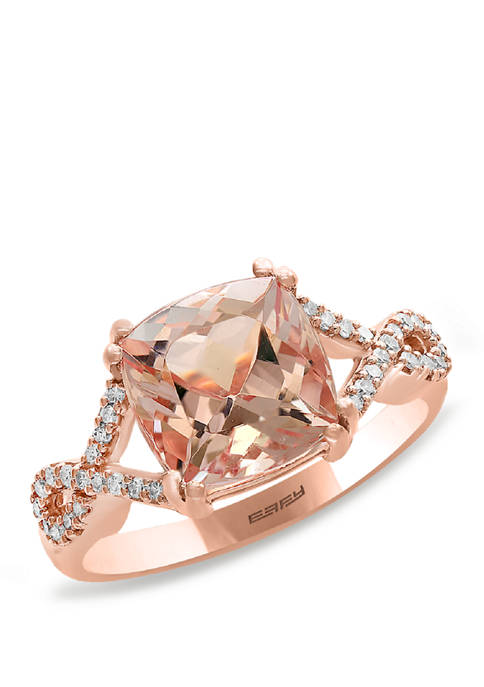 1/6 ct. t.w. Diamond and 2.61 ct. t.w. Morganite Ring in 14K Rose Gold