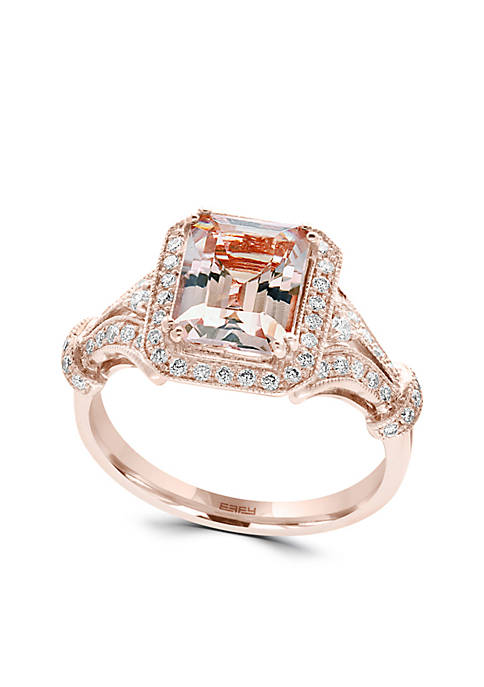 Effy® Morganite & Diamond Ring in 14K Rose