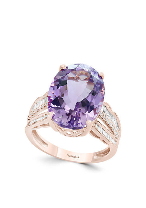 Effy® 3/8 ct. t.w. Diamond and Pink Amethyst