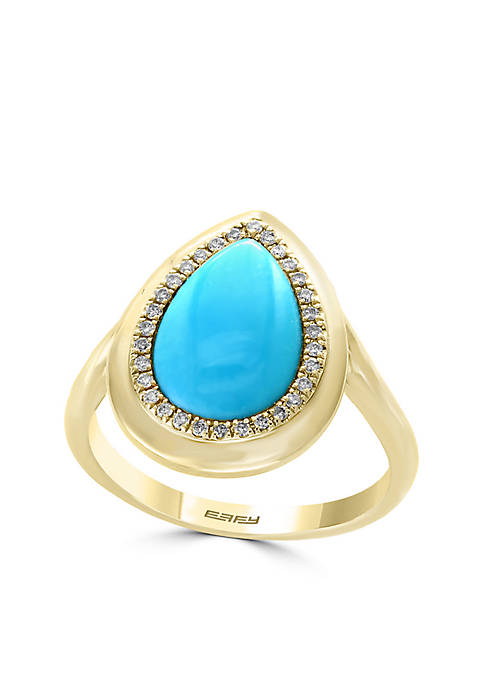 Effy® Turquoise Ring