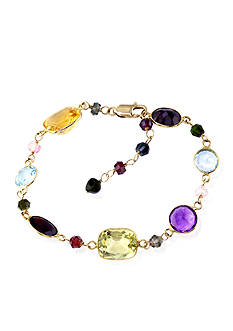 Effy® Multi Colored Tennis Bracelet in 14k Yellow Gold