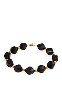 Effy® Onyx Bracelet in 14k Yellow Gold