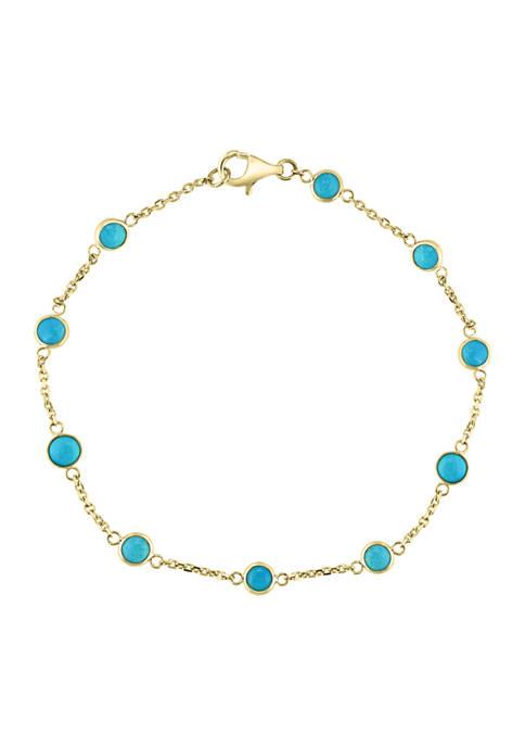 Effy® 2.35 ct. t.w. Turquoise Bracelet in 14K