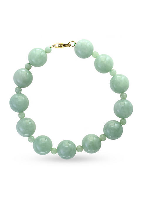 Effy® 14k Yellow Gold Natural Jade Bead Bracelet