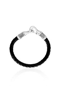 Effy® Leather Bracelet in Sterling Silver