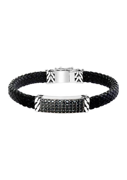 Effy® 2.11 ct. t.w. Black Spinel Bracelet in