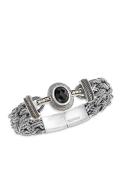 Effy® Onyx Bracelet in Sterling Silver and 18K