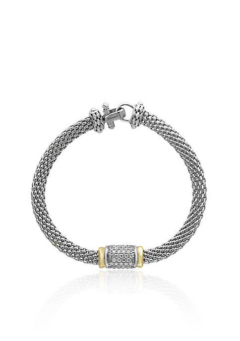 0.53 ct. t.w. Diamond Bracelet in Sterling Silver & 18K Yellow Gold
