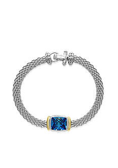 Effy® Blue Topaz Bracelet in Sterling Silver and 18K Yellow Gold