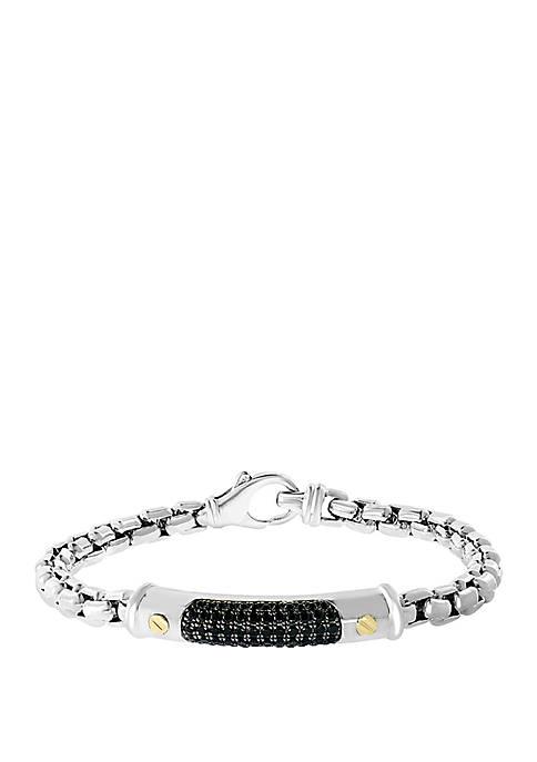 Effy® Mens 1.53 ct. t.w. Black Sapphire Bracelet