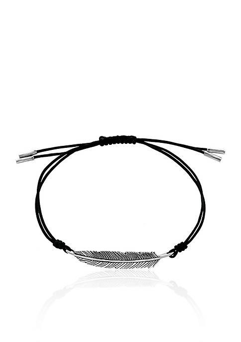Effy® Feather Cord Bracelet in Sterling Silver