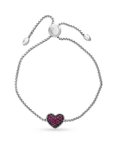 Effy® Sterling Silver Ruby Heart with Black Rhodium