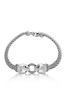 Sterling Silver Signature Panther Bracelet