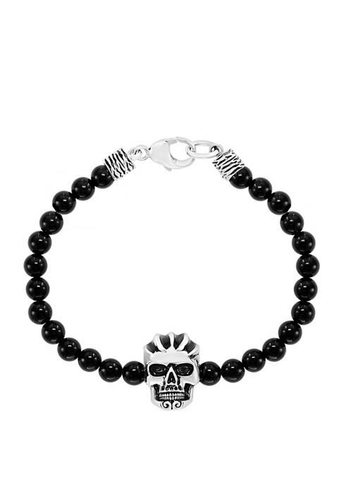 Effy® Mens 38.5 ct. t.w. Onyx Bead Skull