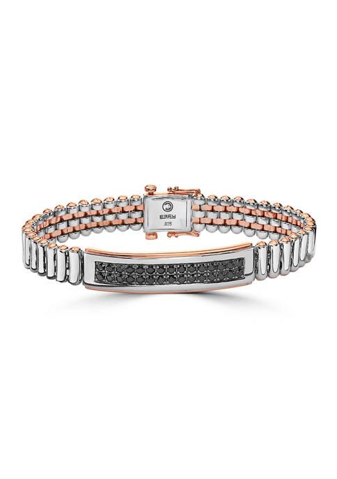 Effy® 4.2 ct. t.w. Black Sapphire Bracelet in