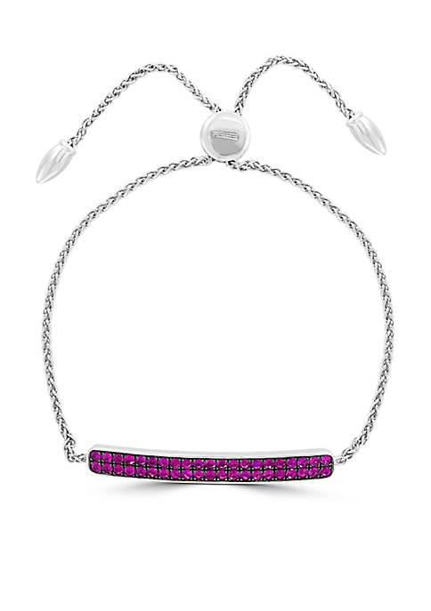 Effy® Gemstone Bar Bracelet in Sterling Silver