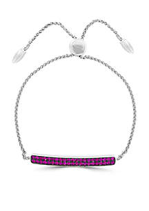 Gemstone Bar Bracelet in Sterling Silver