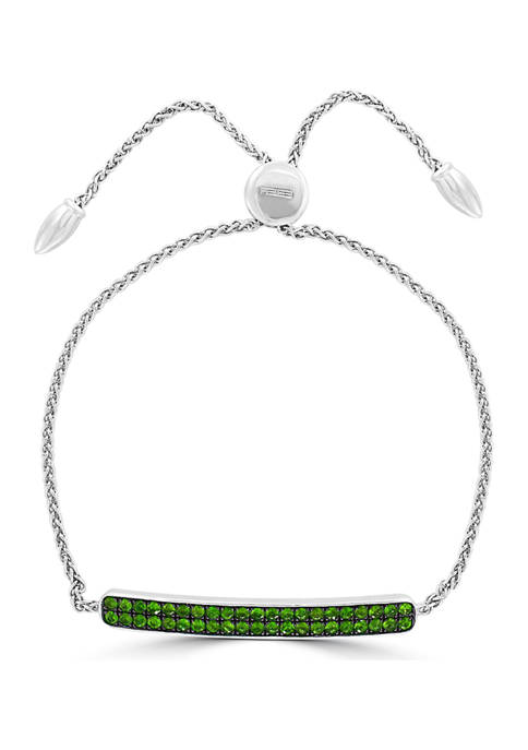 Effy® 1.2 ct. t.w. Tsavorite Sterling Silver Bracelet