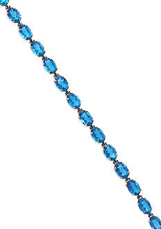 Effy® Blue Topaz Tennis Bracelet in 14k White Gold