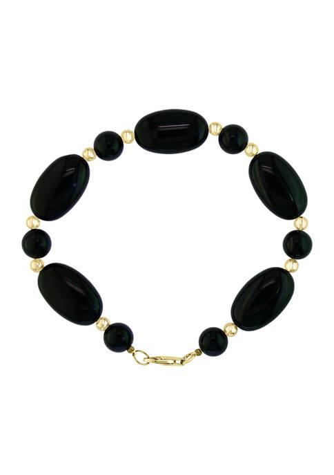92 ct. t.w. Onyx  Bracelet in 14K Yellow Gold