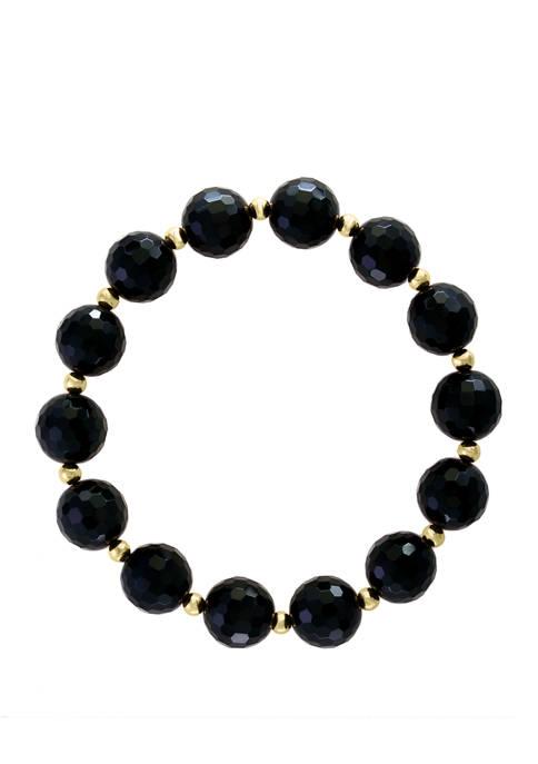 95.2 ct. t.w. Onyx Stretch Bracelet in 14K Yellow Gold