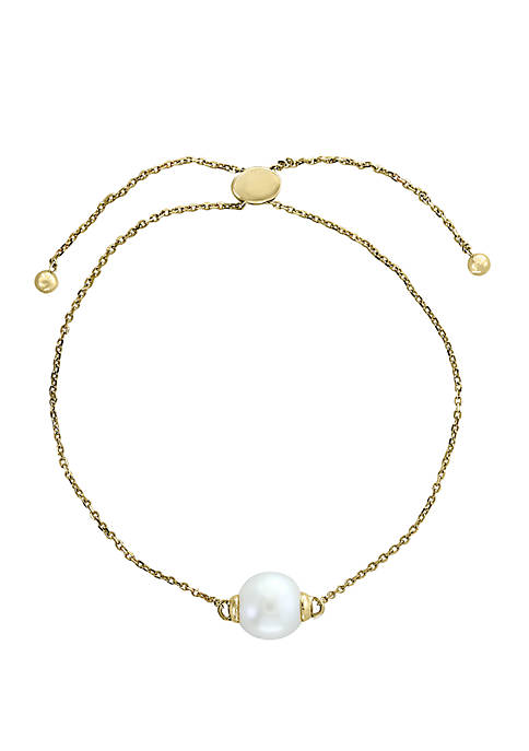 Freshwater Pearl Adjustable Bracelet in 14K Yellow Gold